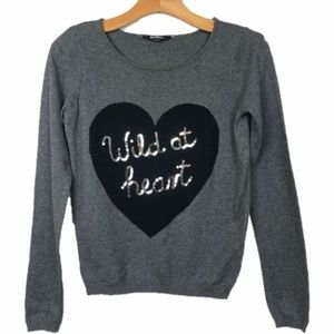 George Sweater Wild At Heart Graphic Sequin Gray M